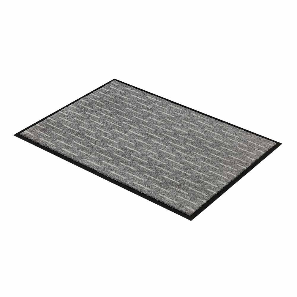 fussmatte broadway sch ner wohnen striche grau 144 50x70. Black Bedroom Furniture Sets. Home Design Ideas