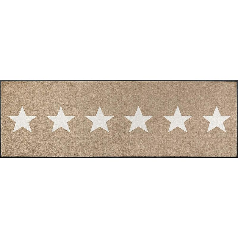 Fußmatte wash and dry Design Stars sand 60x180 cm