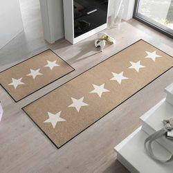 Fußmatte wash+dry Design Stars sand 60x180 cm