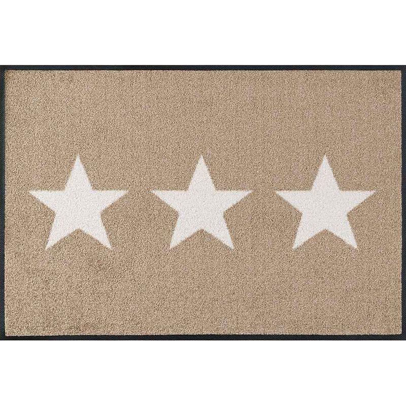 Fußmatte wash+dry Design Stars sand 50x75 cm