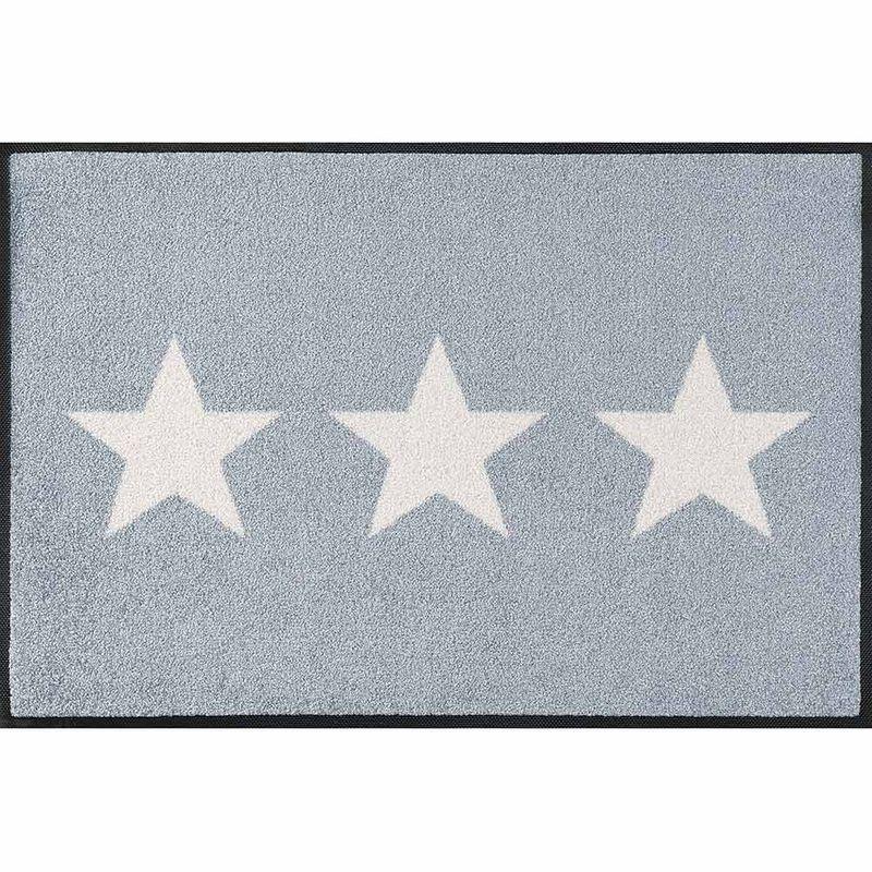 Fußmatte wash+dry Design Stars grey 50x75 cm