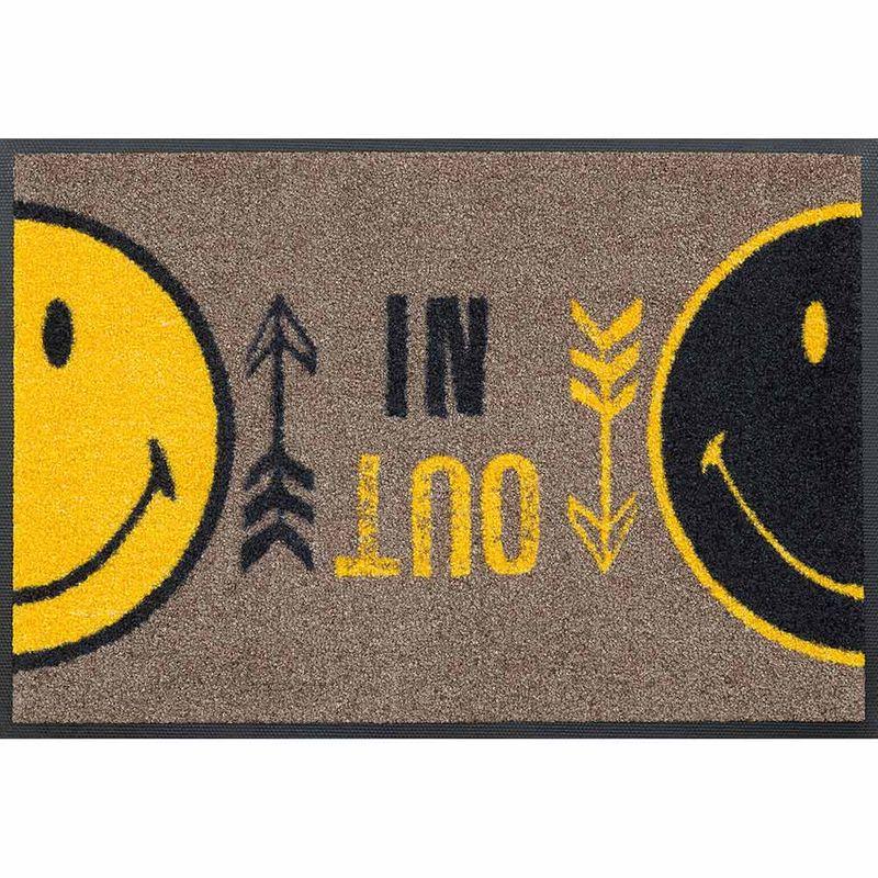 Fußmatte wash+dry Design Smiley In Out 40x60 cm