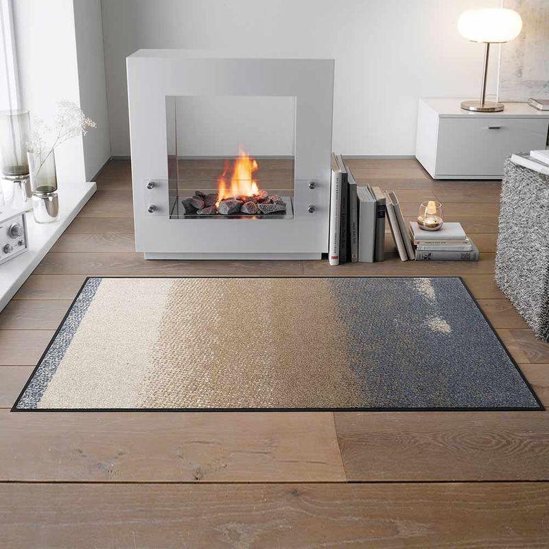 Fußmatte wash+dry Design Medley beige 75x120 cm