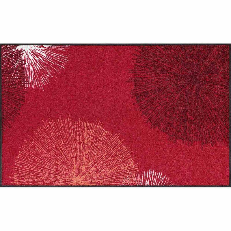 Fußmatte wash and dry Design Firework red