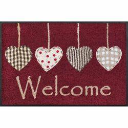 Fußmatte wash+dry Design Cottage Hearts red 50x75 cm