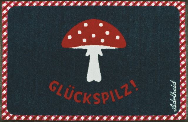 Fussmatte wash+dry Design Adelheid Glückspilz blau 50x75 cm Bild 3