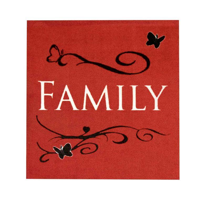 Fußmatte Cardea Family Rot 010 | 67x67 cm