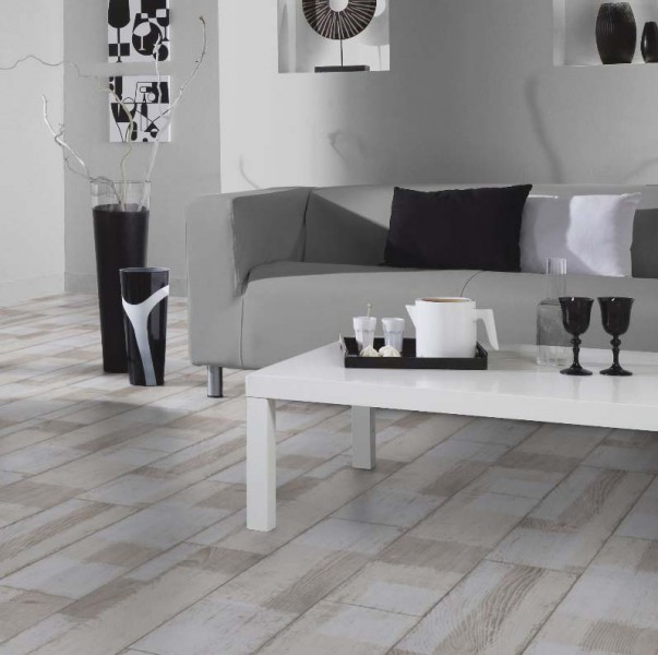 PVC Boden Tarkett Exclusive 260 Patched Wood White 4m