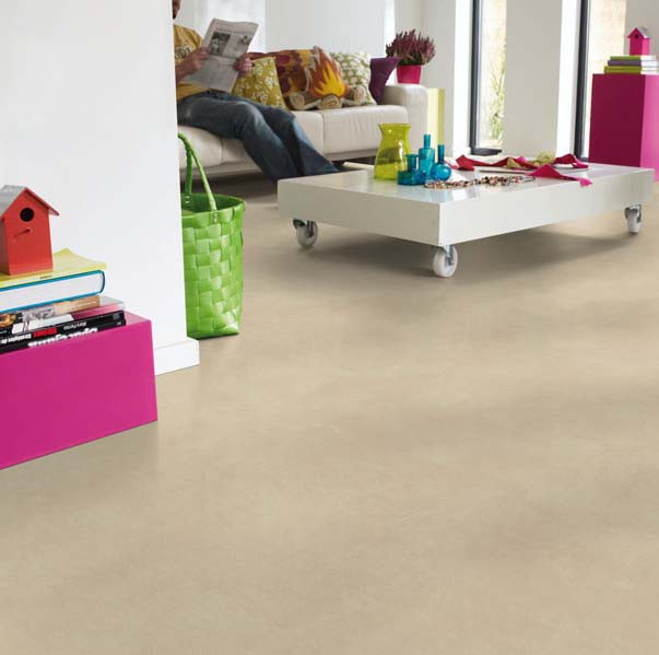 PVC Boden Tarkett Exclusive 300 Polished Concrete Beige 4m