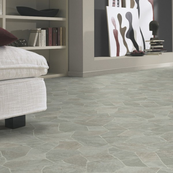 PVC Boden Tarkett Essentials 370 Broken Slate Light Grey 3m Bild 1