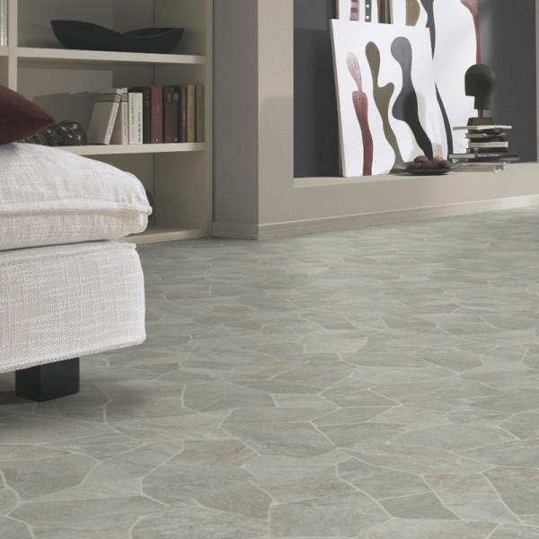 PVC Boden Tarkett Essentials 370 Broken Slate Light Grey 3m