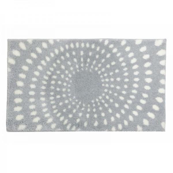 Badteppich Schöner Wohnen Mauritius Kreise Hellgrau 004 | 60x60 cm Bild 2