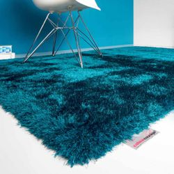 Shaggy Teppich ColourCourage 034 Teal | 90x160 cm Bild 1