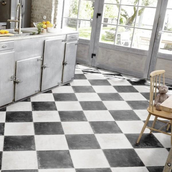 restst ck pvc tarkett stone 450 chesstone black 8 00x1 00 m sonderposten pvc vinyl. Black Bedroom Furniture Sets. Home Design Ideas