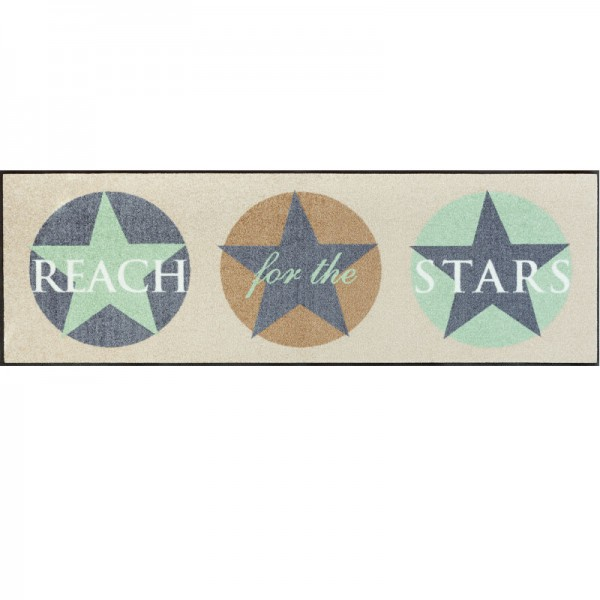 Fussmatte  wash+dry Design Reach for the Stars Mint 60x180 cm
