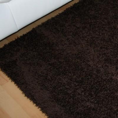 Reststück Shaggy Teppich Alexis Braun | 1,00x1,00 m Bild 2