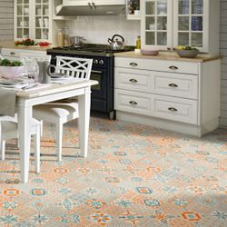 Klick Vinyl Tarkett Starfloor Click 30 | Retro Orange Blue 1,68 m²