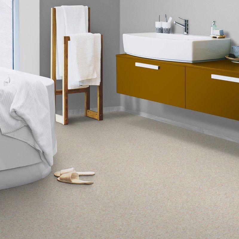 pvc boden tarkett acczent excellence 70 silver beige red 3m bodenbel ge pvc belag 3 00 m. Black Bedroom Furniture Sets. Home Design Ideas