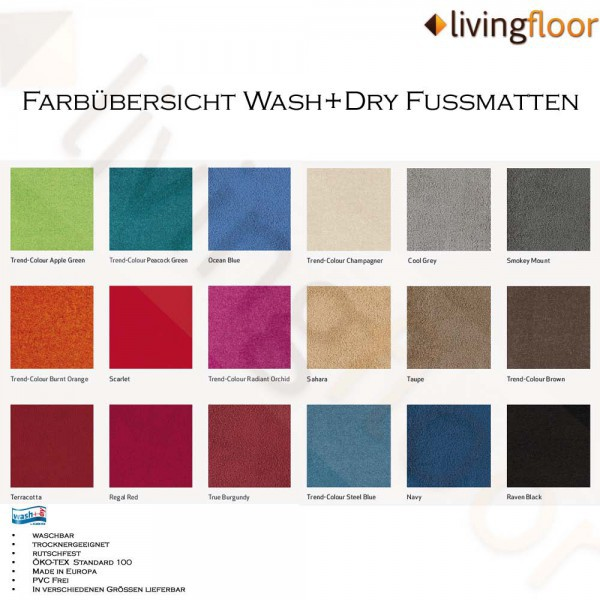 Fussmatte wash+dry Trend-Colour Steel Blue 50x75 cm Bild 2