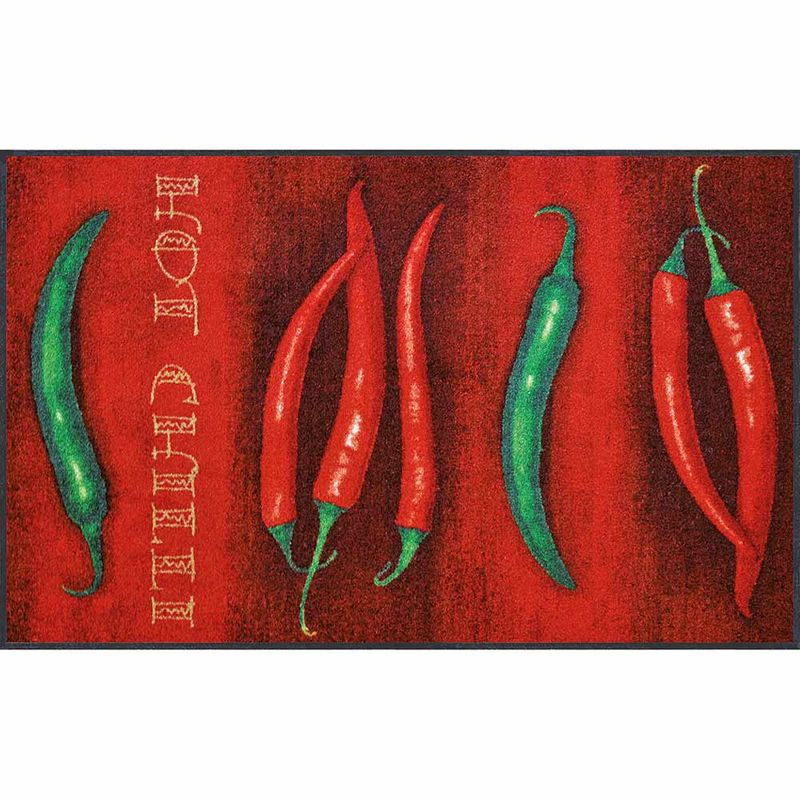 Fussmatte wash+dry Design Hot Chilli 75x120 cm