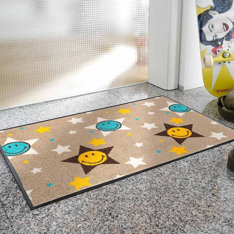 Fussmatte wash+dry Design Smiley Stars 50x75 cm