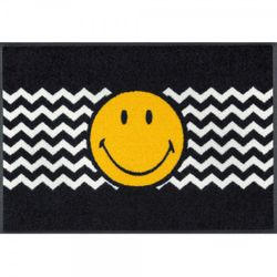 Fussmatte wash+dry Design Smiley Zickzack 50x75 cm Bild 1