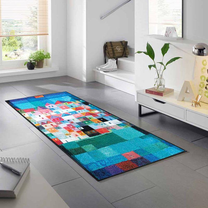 Fussmatte wash+dry Design Colourful Houses Designbeispiel