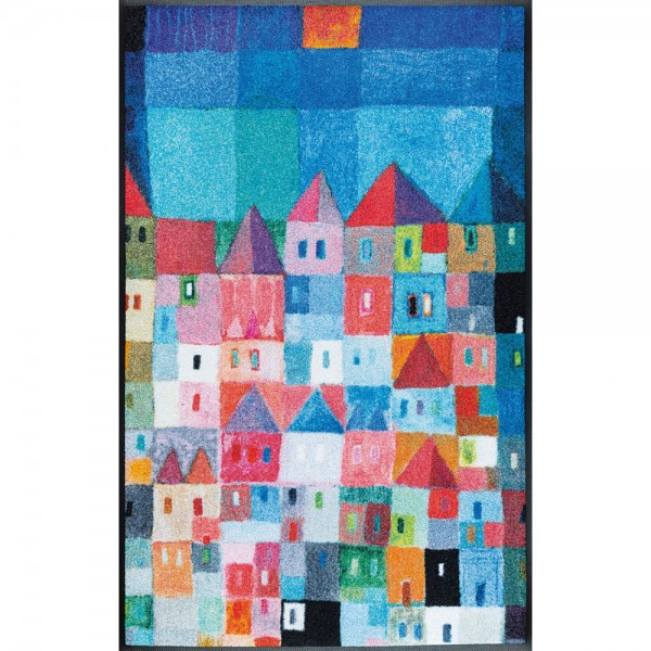 Fussmatte wash+dry Design Colourful Houses 75x120 cm
