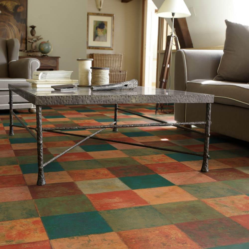 pvc bodenbelag tarkett design 260 latina dunkel 1m bodenbel ge pvc belag fliesen dekor. Black Bedroom Furniture Sets. Home Design Ideas