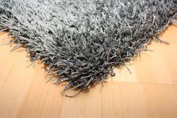Reststück Shaggy Teppich Finesse Grau | 2,50x0,50 m Bild 2