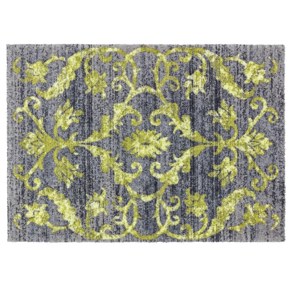 Schöner Wohnen Fussmatte Brooklyn Vintage grün 66x110 cm Fußmatten waschbare Türvorleger