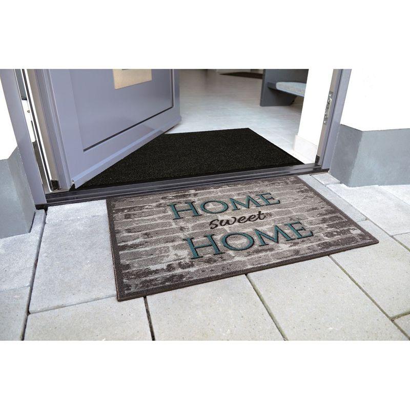 Fussmatte Casadoor Home Sweet Home Steine grau 50x70 cm