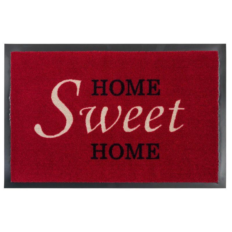 Fussmatte Homelike Sweet Home rot 50x70 cm Bild 1