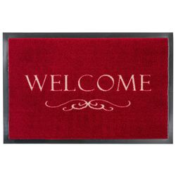 Fussmatte Homelike Welcome Ornament rot 50x70 cm Bild 1