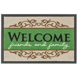 Fussmatte Homelike Welcome beige/grün 50x70 cm