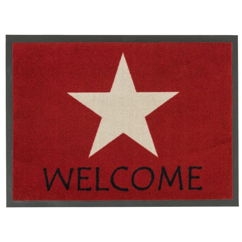 Fussmatte Homelike Stern Welcome rot 50x70 cm