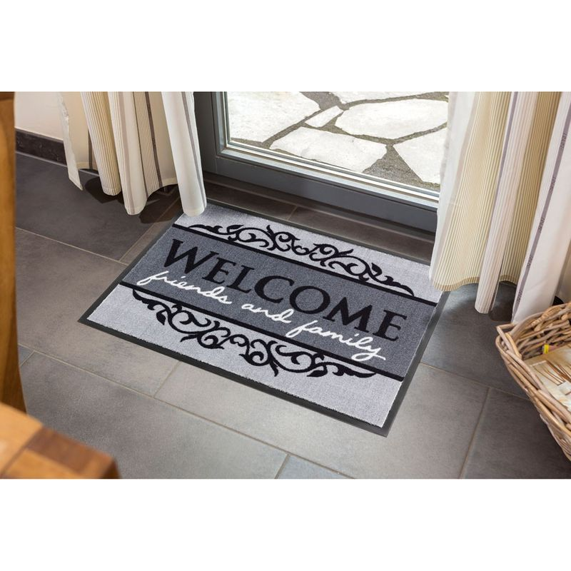 Fussmatte Homelike Welcome grau 40x60 cm