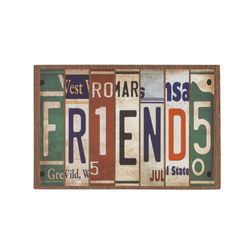 Fussmatte Eco Living Schild Friends 40x60 cm Bild 2