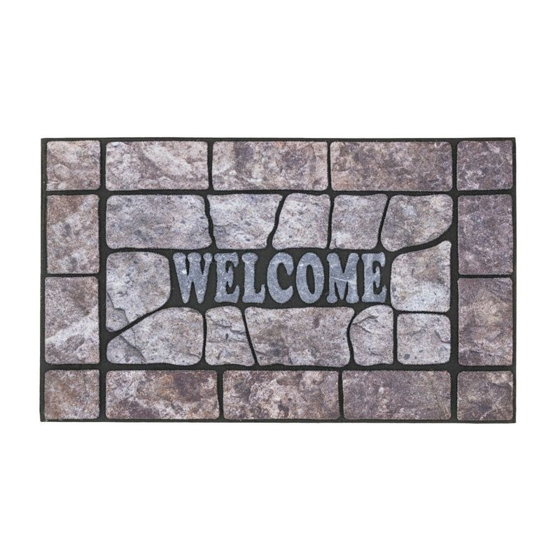 Fussmatte Eco Fashion Steine Welcome grau 45x75 cm