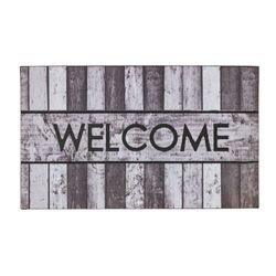 Fussmatte Eco Fashion Holz Welcome grau 45x75 cm