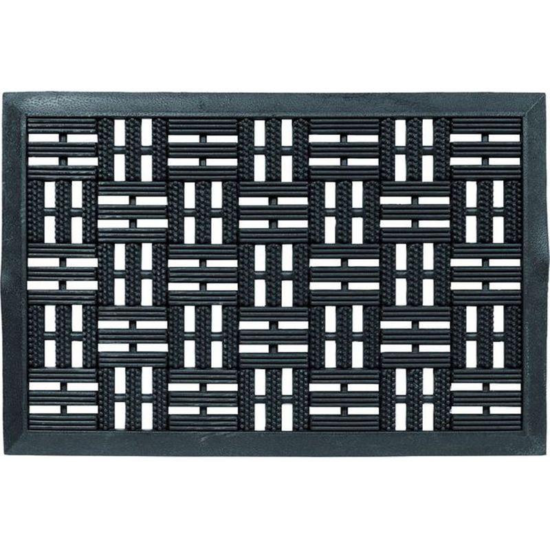 Gummi Fussmatte Dynamic 001 schwarz 45x75 cm