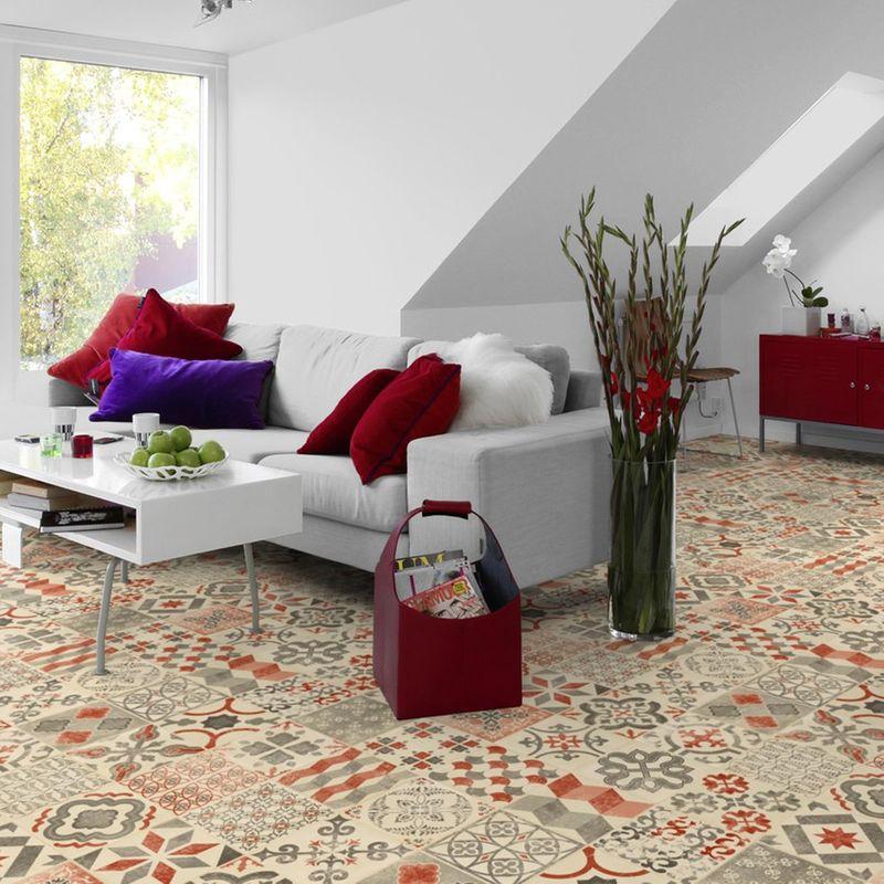 PVC Boden Tarkett Exclusive 240 Retro Almeria Red Designbeispiel