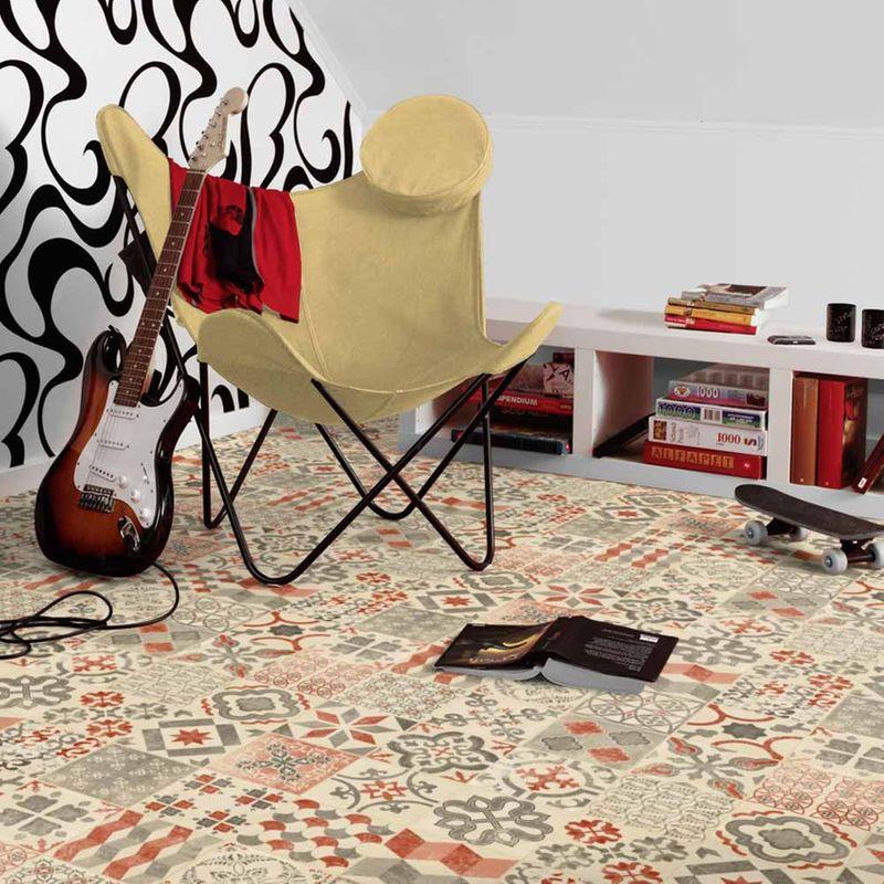 PVC Boden Tarkett Exclusive 240 Retro Almeria Red Designbeispiel 3