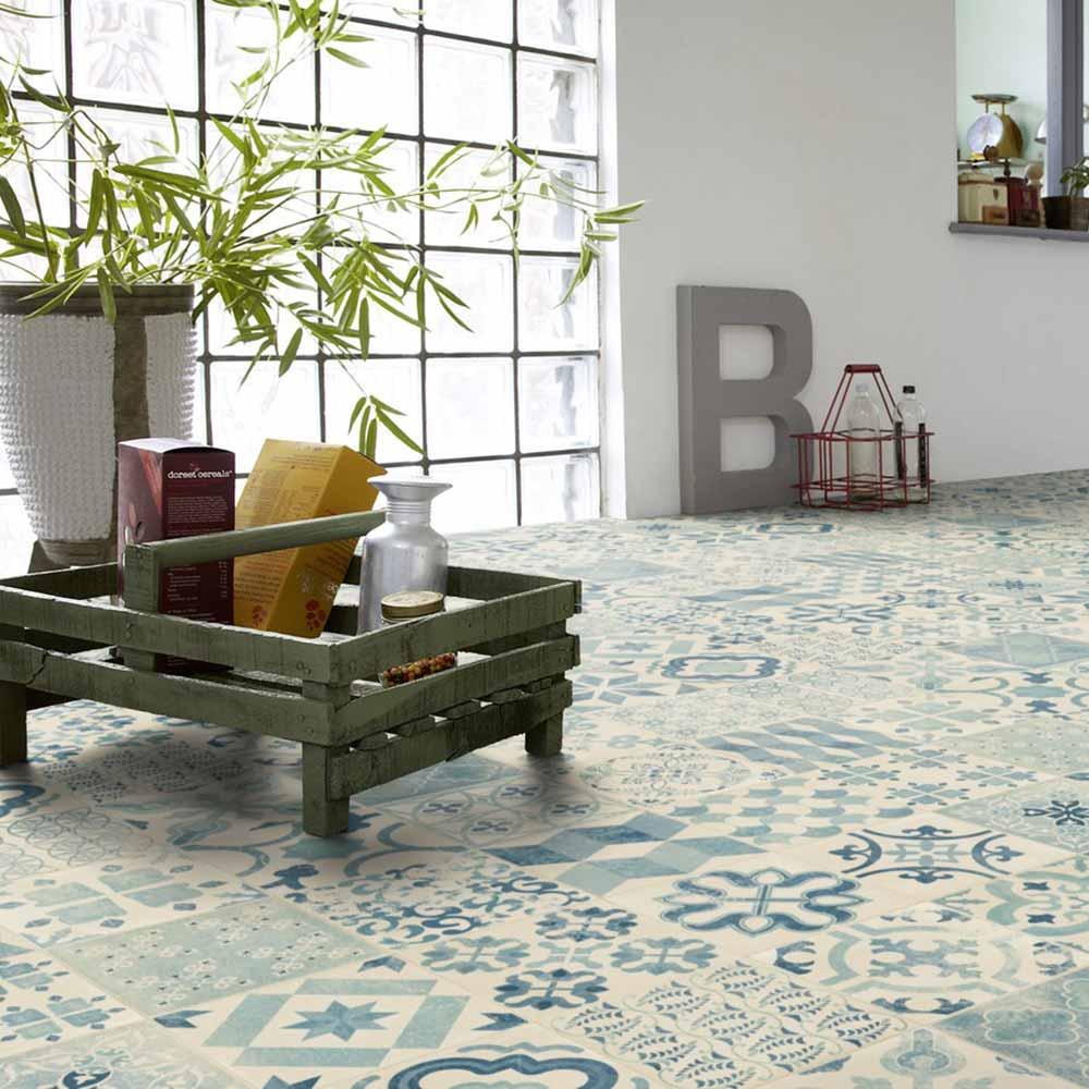 pvc boden tarkett exclusive 240 retro almeria blue 4m bodenbel ge pvc belag 4 00 m rollenbreite. Black Bedroom Furniture Sets. Home Design Ideas