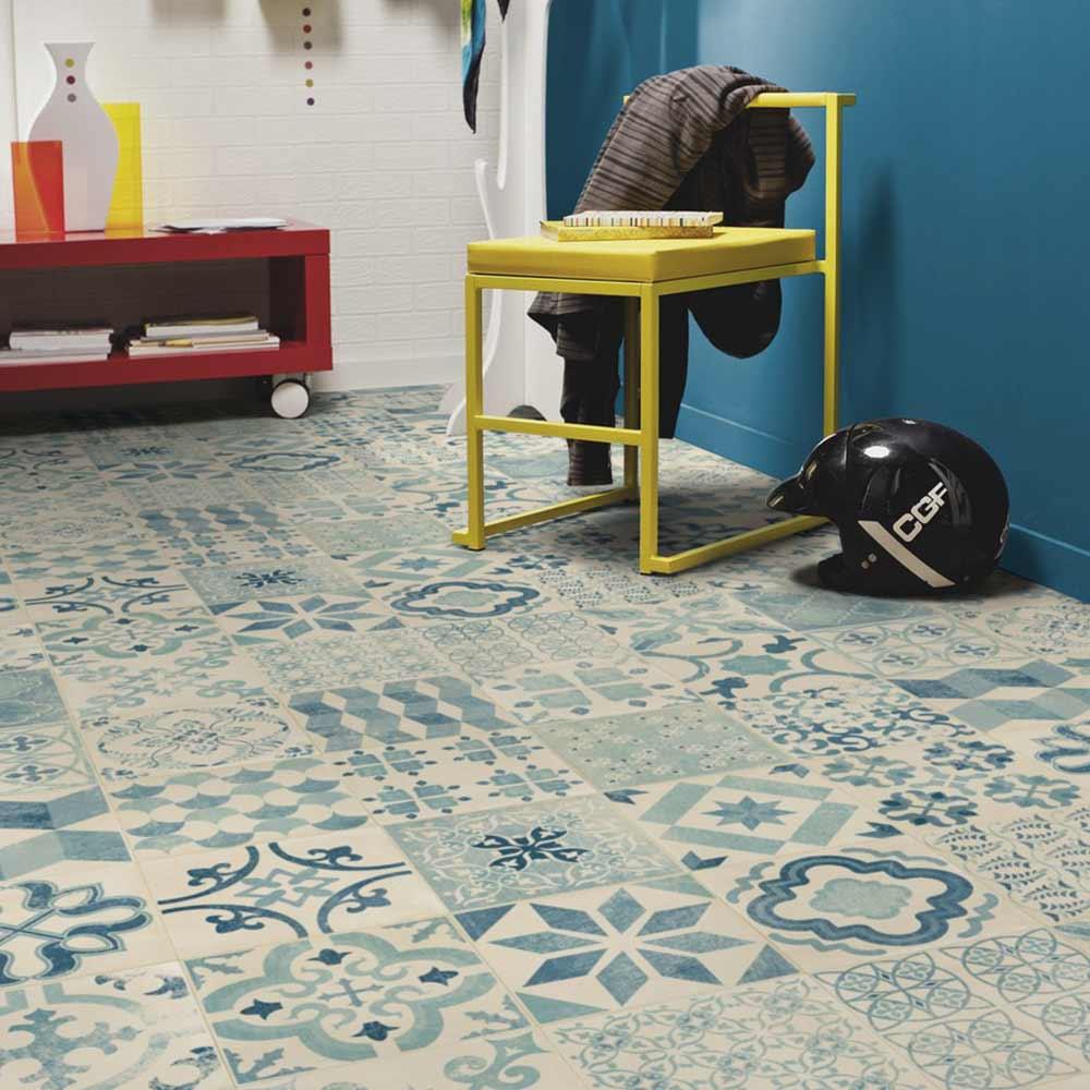 pvc boden tarkett exclusive 240 retro almeria blue 2m bodenbel ge pvc belag 2 00 m rollenbreite. Black Bedroom Furniture Sets. Home Design Ideas