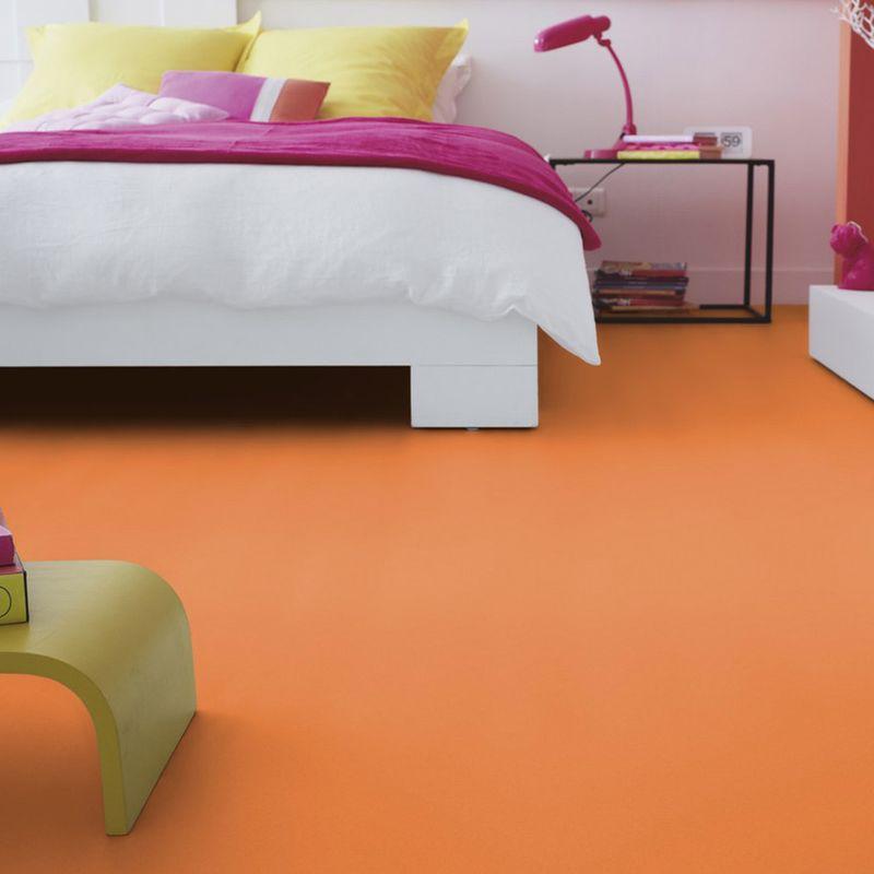 PVC Boden Tarkett Exclusive 260 Dj Medium Orange 2m Bild 1
