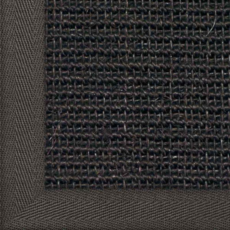 Sisalteppich mit Stoffbordüre und Fleckschutz Manaus Schwarz 44 | Wunschmaß Bild 21