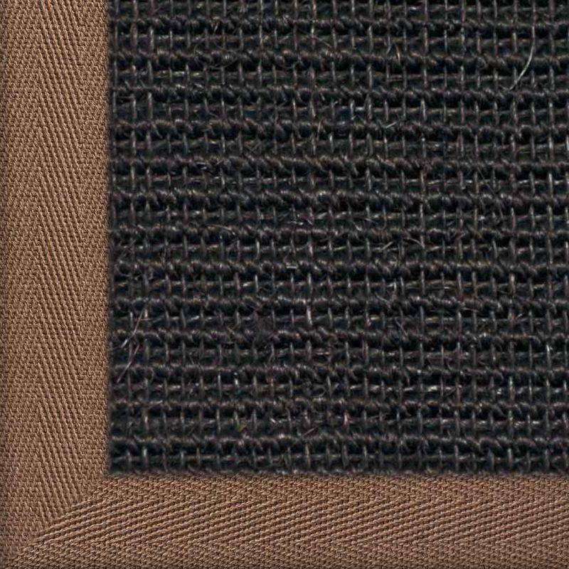 Sisalteppich mit Stoffbordüre und Fleckschutz Manaus Schwarz 44 | Wunschmaß Bild 24