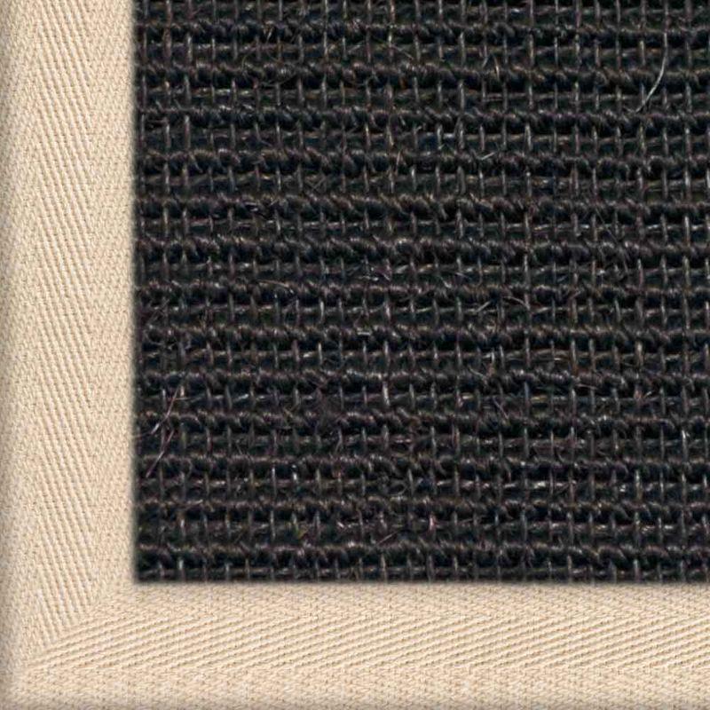 Sisalteppich mit Stoffbordüre und Fleckschutz Manaus Schwarz 44 | Wunschmaß Bild 6