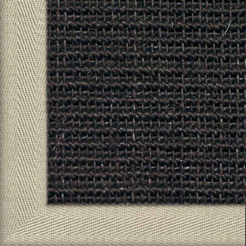 Sisalteppich mit Stoffbordüre und Fleckschutz Manaus Schwarz 44 | Wunschmaß Bild 8